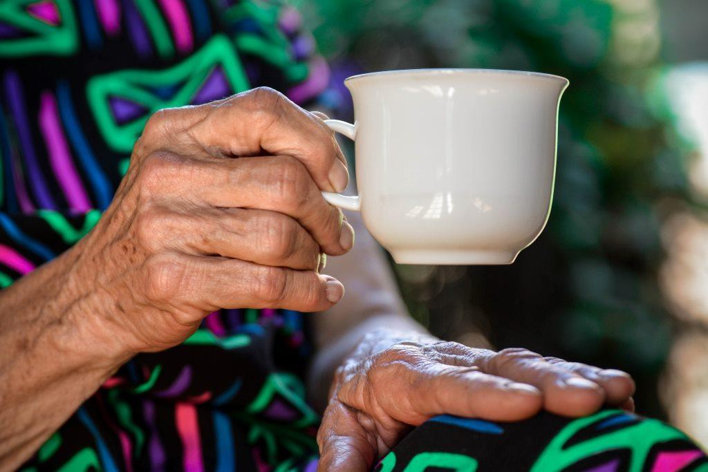 Elderly Lady at a Nursing Home